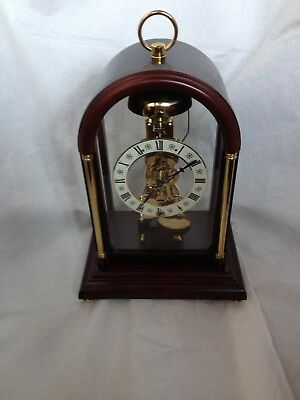 Rare White Dial Hermle Passing Strike Skeleton Clock