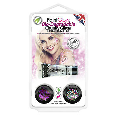Bio-Degradable Chunky Loose Glitter, Hang Pack HP14 by PaintGlow