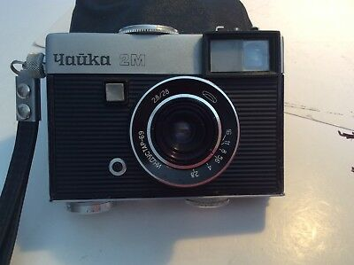 Chaika 2M vintage Russian half frame camera,28mmf2.8 inc case