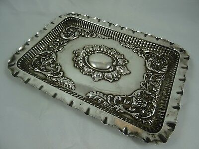 SOLID silver DRESSING TABLE TRAY, 1908, 218gm - Chester