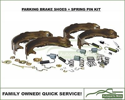 Landcruiser 80 Series Rear Hand Brake Shoes + Spring Pin Clip Set 1992 on