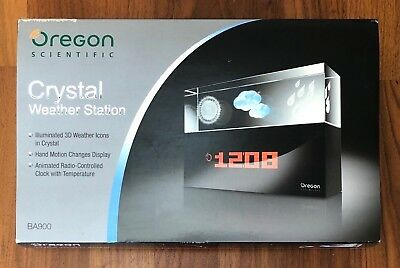 Oregon Scientific Crystal Weather Station BA900, with 3D Icons, Clock