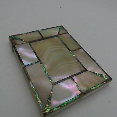 Victorian Mother Of Pearl Card Case c-1880's No Reserve