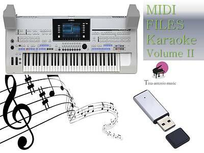 MIDI File Karaoke USB stick for Tyros 4 NEW Volume 2