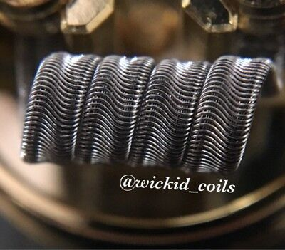 2x 15 Ply Framed Staple Alien Coils (4 Wrap) + Free Coils (Nichrome 80 Wire)