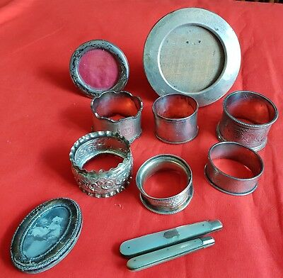 Good collection of fully hallmarked sterling silver antique items