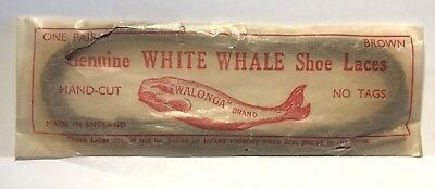Vintage Advertising C.1910 PACKAGE WALONGA WHITE WHALE SHOE LACES Made n England