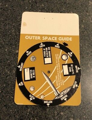 Outer Space Guide Blank Advertising Wheel Made In USA Vintage Advertisement