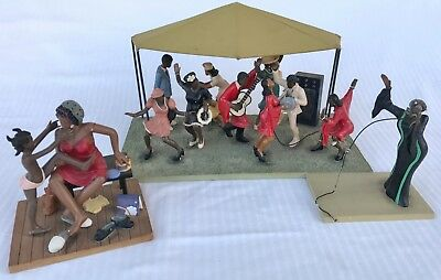 RARE Annie Lee Sass N' Class Black Americana Gospel Tent Choir Singer  Figures