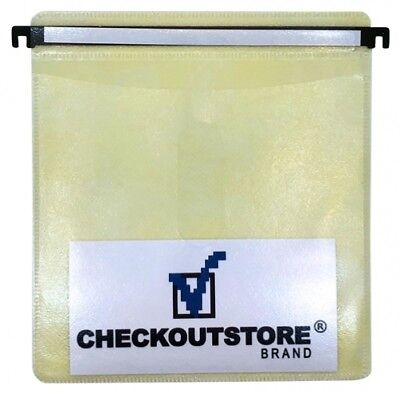 (SAMPLE) - 1 CD Double-sided Refill Plastic Hanging Sleeve Yellow