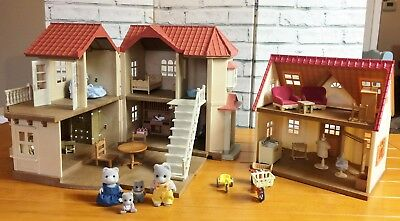 Sylvanian Families Beechwood Hall and Cosy Cottage - Furniture 4 Calico Critters