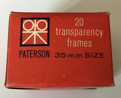 Vintage Paterson Transparancey Frames - Photography Slides Glass 35mm