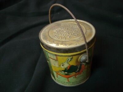 Vintage LOVELL & COVEL Tin Litho PETER COTTONTAIL Candy Container