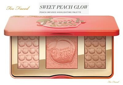 BRAND NEW AUTHENTICToo Faced Sweet Peach Glow PEACH-INFUSED HIGHLIGHTING PALETTE
