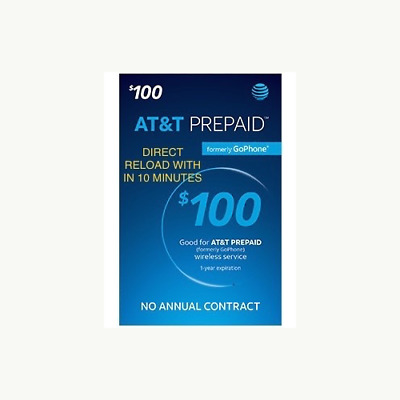At&t Prepaid $100 Refill Automatically Applied To Phone Within 10 Minutes