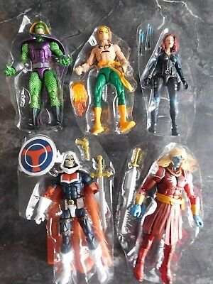 Marvel Legends Lot of Malekith, Black Widow, Iron Fist, Taskmaster, & King Cobra