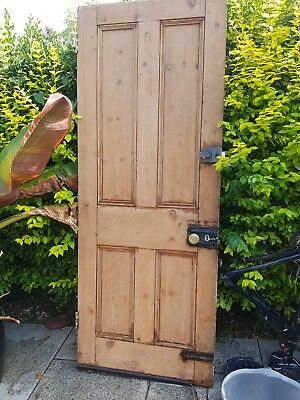 Reclaimed, stripped, pine,  victorian, four-panel external door