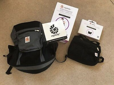 Ergobaby Performance Black/Charcoal Baby Carrier + CargoPack excellent condition