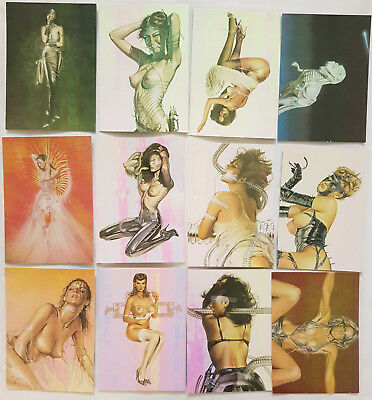 Sorayama - Siver & Satin All Omnichrome Trading Cards Komplett Comic Images 1997