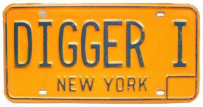DIGGER Vintage New York Personalized Vanity License Plate, Nickname, Funny