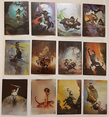 The Best of Frazetta All-Chromium Trading Cards Komplettsatz Comic Images 1995