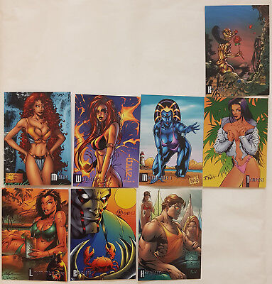 Cyber Force Summer Swimsuits & Super Heroes Trading Cards fast komplett 1996