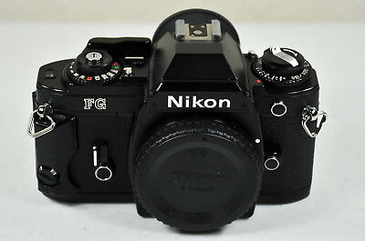 Nikon FG 35mm SLR Film Camera - Black - Very Clean & Nice