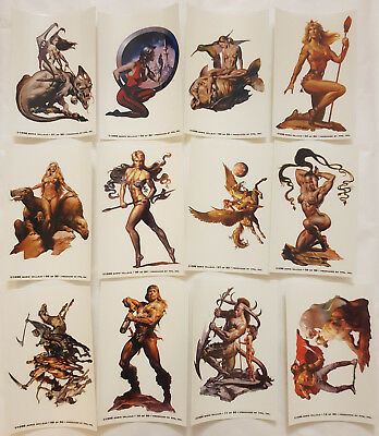 BORIS VALLEJO Fantasy Art Stickers Komplettsatz FPG 1996