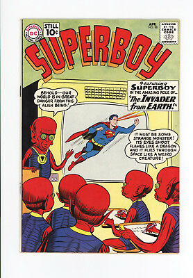 Superboy #88 - Beautiful High Grade Vf+ 8.5 - The Invader From Earth! - 1961