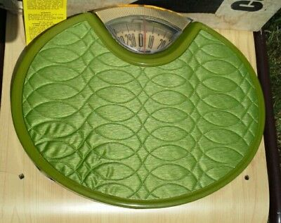 Counselor Bathroom Scale Vintage Oval Green Made in USA Model 592 - 4 Weight