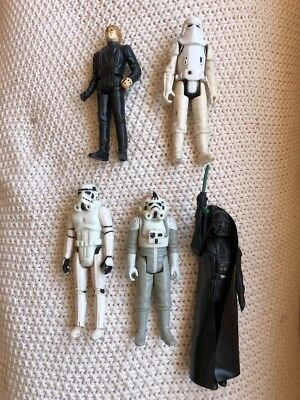 5 Vintage Kenner Star Wars Action Figures - 1977 to 1983 -Darth Vader, Luke, etc