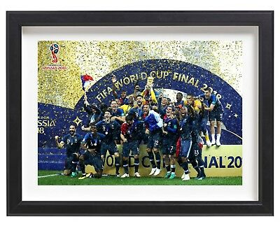 France FIFA World Cup 2018 Champions Lifting Trophy Russia A4 Poster