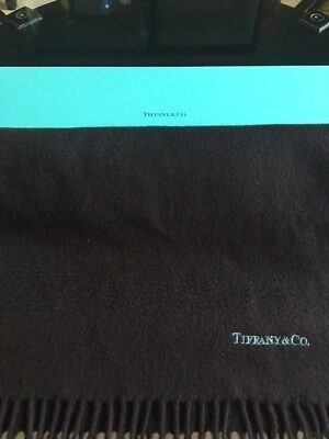 Tiffany & Co Brown Cashmere/Wool Scarf Tiffany & Co. Blue Logo with BOX