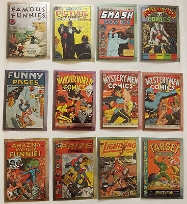 The Golden Age of Comics Chromium Trading Cards Komplettsatz Comic Images 1995