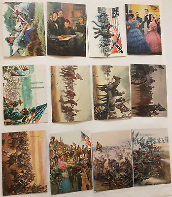 The Blue and the Gray Civil War Art by Mort Künstler Komplettsatz Keepsake 1997