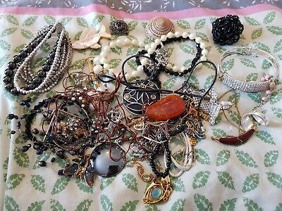 Job Lot Of Old And New Costume Jewellry. Ideal For Scrapping or Crafting
