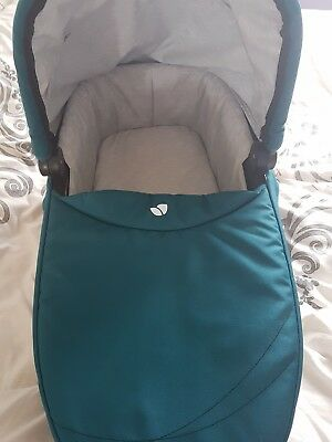 joie chrome teal carrycot with raincover