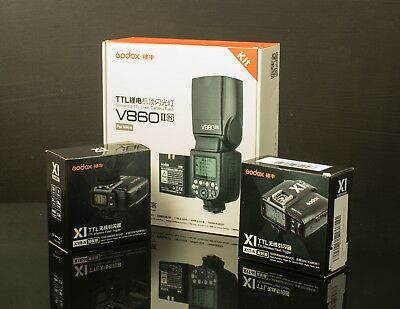 SAVE MONEY: Godox Flash V860II-N COMPLETE KIT fully TTL compatible with NIKON