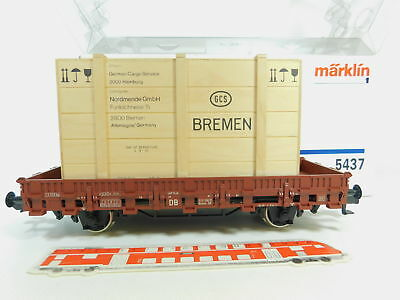 bo250-2# Märklin 1 Gauge / AC 5437 Stake Wagon without Radio with Wooden Crate