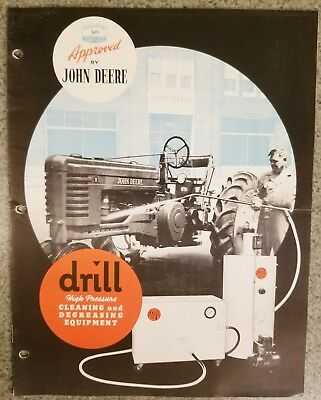 John Deere Dealer Approved Brochure For Drill Cleaning Equip. Indianapolis 1947