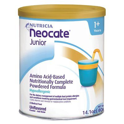2 Cans Of Neocate jr nutritionally complete hypoallergenic Unflavored exp 3/19