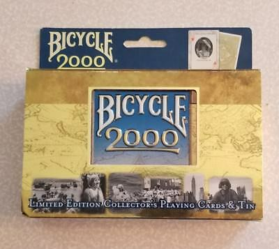Limited Edition Bicycle 2000 Playing Cards w/Collectible Tin - 2 Decks - Sealed!