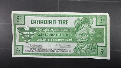 Canadian Tire Money 5 Cent Bill Free Shipping