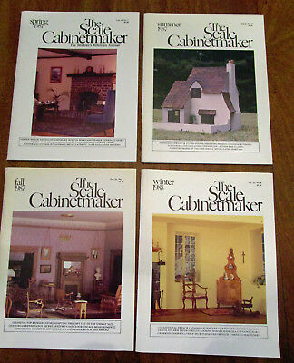Lot of 4 Vintage Scale Cabinetmaker Vol. 11: Issues 1-4, 1987-88