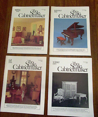 Lot of 4 Vintage Scale Cabinetmaker Vol. 12: Issues 1-4, 1988-89