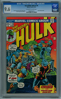 THE INCREDIBLE HULK #176 (June 1976) 9.6 NM+ (CGC) Off-White to White Pages