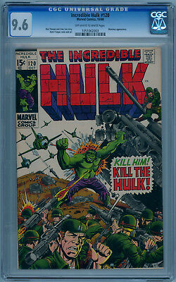 THE INCREDIBLE HULK #120 (Oct 1969) 9.6 NM+ (CGC) Off-White to White Pages