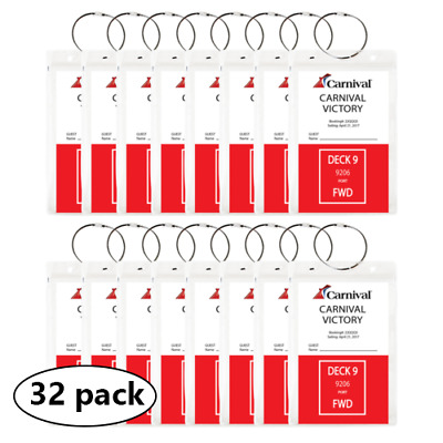 (32 PACK) - HEAVY DUTY Cruise Luggage Tag Holders, Document Holders *US SELLER**