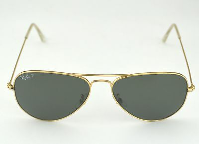 5afaf556564 Ray Ban RB3025 Aviator Classic 001 58 Gold Frame Polarized Green Classic G-