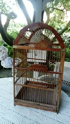 Antique 1900 french BIRDCAGE Vogelkäfig Antik  + Vögel Vintage VOLIERE SHABBY XL